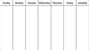 Calendar Week Template by Week Blank Calendar Printable Calendar Template 2016