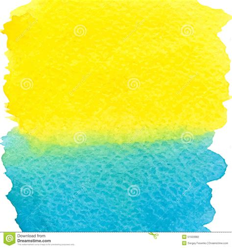 background design yellow blue yellow and blue watercolor squarer background stock vector
