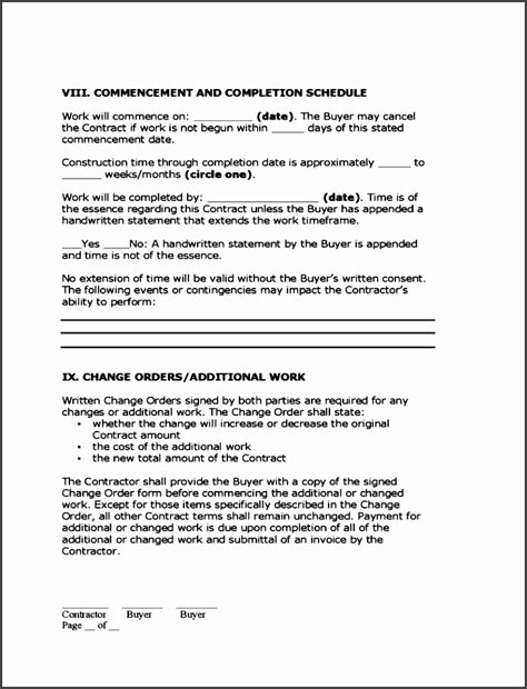construction statement of work template 10 construction statement of work template