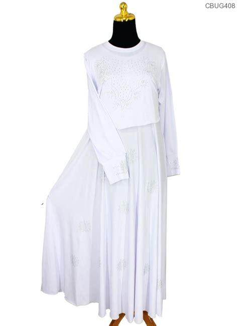Gamis Motif Wanita Putih gamis putih cristal cempaka gamis muslim murah
