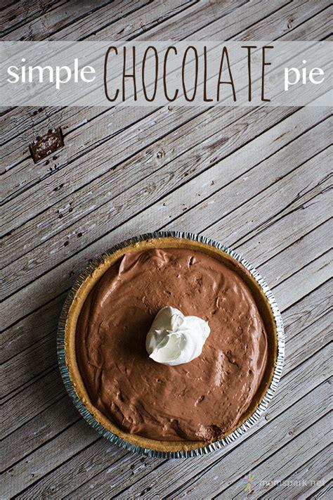 simple chocolate pie made with jell o pudding mom spark mom blogger