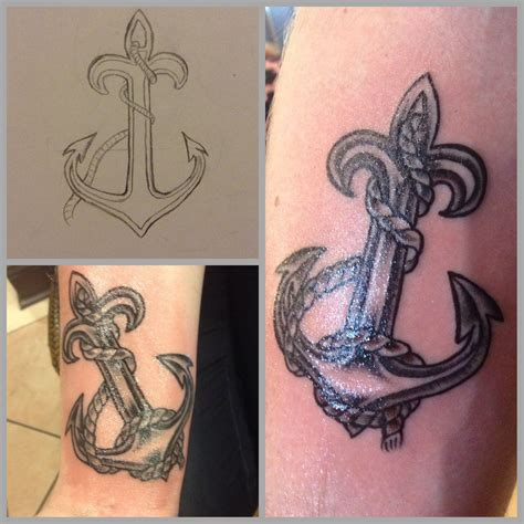 symbol tattoos for couples anchor as fleur de lis symbol couples
