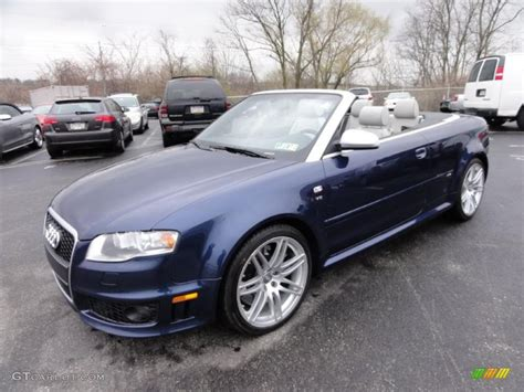 audi convertible 2008 2008 audi rs4 4 2 quattro convertible sprint blue pearl