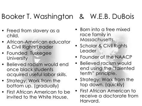 booker t washington vs web dubois venn diagram the inconvenient about the democratic us