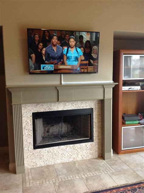 Mount Tv Above Fireplace Hide Wires by 17 Best Images About Vesta Fireplace Tv Installation On