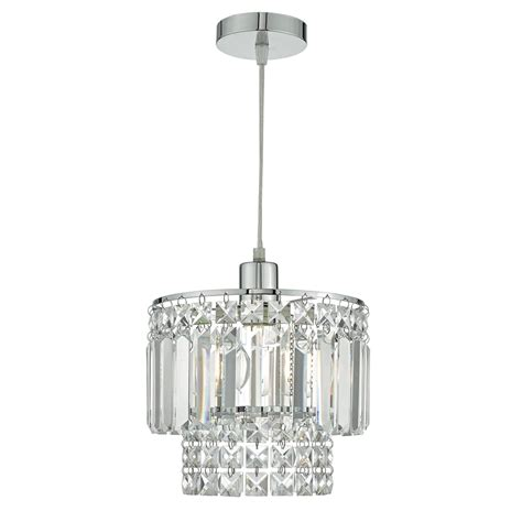 Easy Fit Ceiling Lights Dar Lighting Kyla Easy Fit Ceiling Pendant Shade In Polished Chrome And Glass Finish Lighting