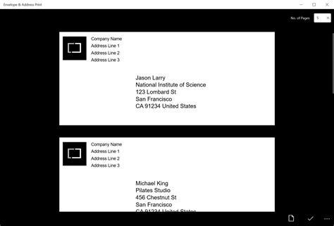 envelope pattern programming envelope address print windows store app