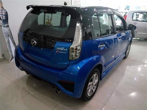 kereta bmw biru myvi facelift terbaru til dengan cat luaran dwi warna