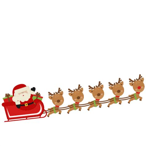 Santa and reindeer clipart - WikiClipArt Free Clip Art Santa And Reindeer