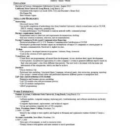 Sle Resume Computer Skills by Computer Resume Exles Resume Format Pdf