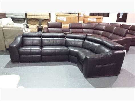 Ex Display Sofa Warehouse by Ex Display Elixir Black Leather Manual Recliner Corner