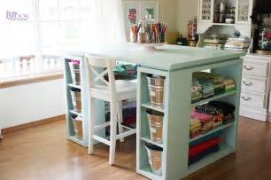 white modern craft table aqua diy projects