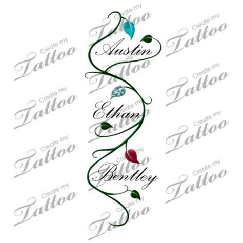 grandchildren tattoo ideas children s name with vine ideas