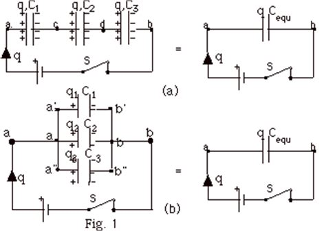 how to find potential difference across a capacitor in series how to find potential difference capacitor