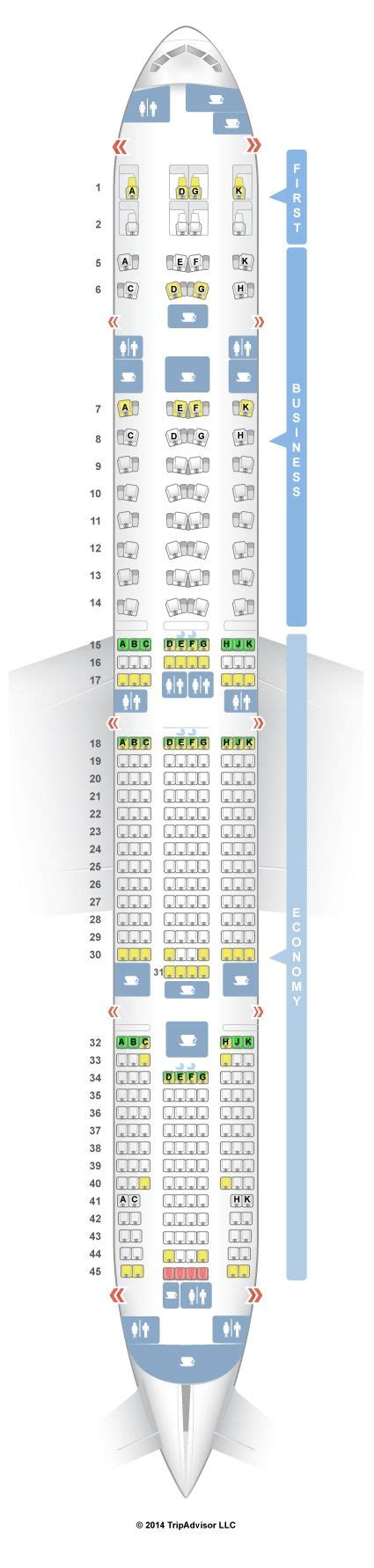 777 300er seat map 20 best ideas about boeing 777 300 seating on