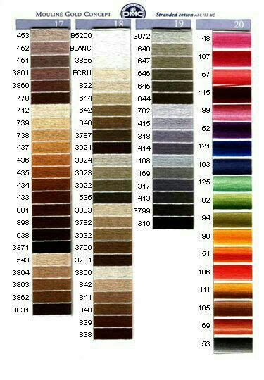 dmc color chart 7 best dmc floss color chart and numbers chart 2 images