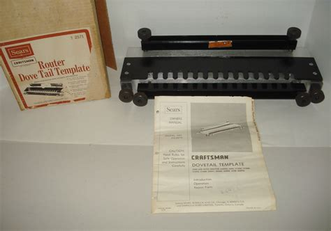 sears craftsman woodworking dovetail router jig template