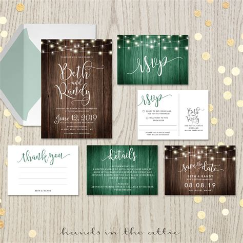 rustic themed wedding invitations rustic themed wedding invitation set printable stationery in the attic