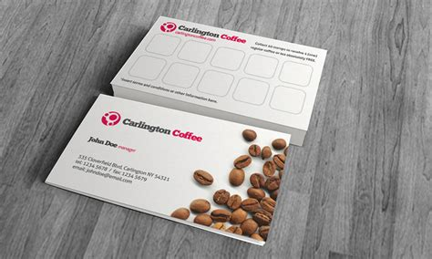 free coffee loyalty card template cafe business card template 187 free 187 cf00004