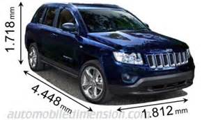 Jeep Compass Size Dimensions Of Jeep Cars Showing Length Width And Height