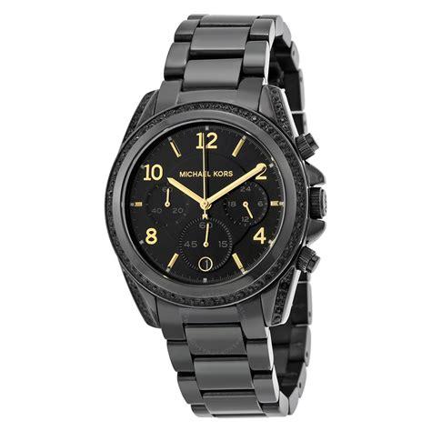 Mk Black michael kors blair black chronograph mk6283 blair michael kors watches