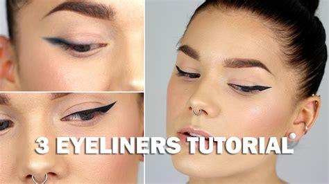 eyeliner tutorial linda hallberg 3 eyeliners tutorial with subs linda hallberg makeup
