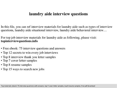 laundry aide questions