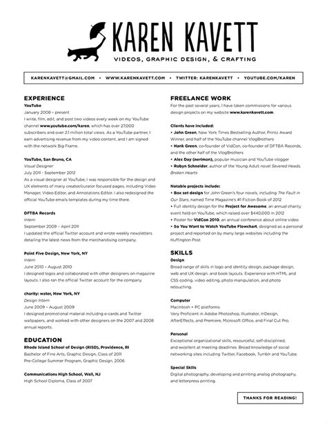 how to design a resume kavett