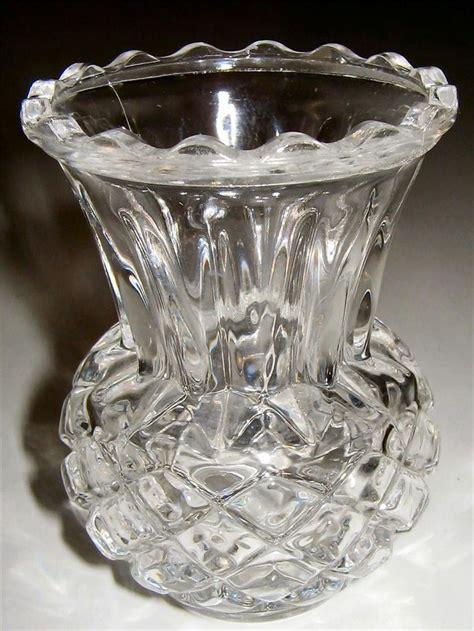 Antique Bud Vases by Lovely Vintage Depression Cut Glass Bud Vase Near Mint