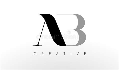 design online ab a b letter logo design creative ab letters icon stock