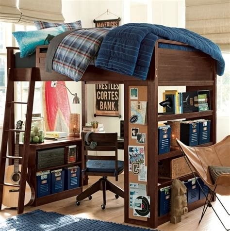loft bed for boys 153 best loft bed with desk underneath images on pinterest