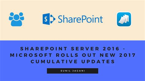 microsoft rolls out kb3116908 cumulative update for sharepoint server 2016 microsoft rolls out new 2017