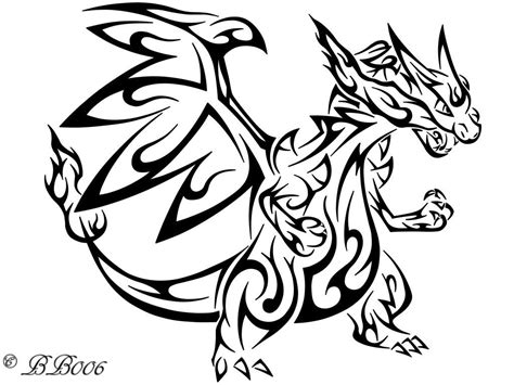 tribal x tattoo tribal mega charizard x by blackbutterfly006 ideas