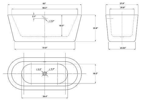 bathtub specifications product printer friendly page