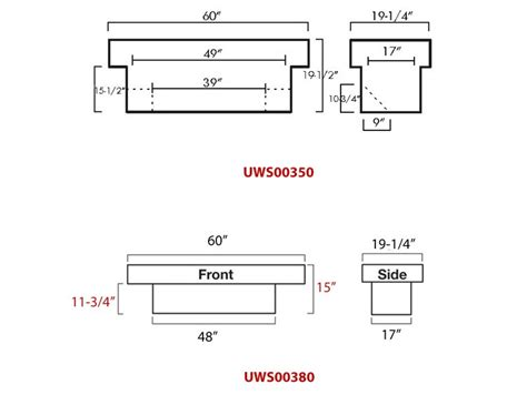 truck bed sizes dimensions for uws truck bed tool box part uws00380