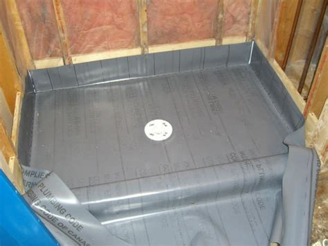 bathroom tile underlayment shower exterior wall vapor barrier and waterproofing