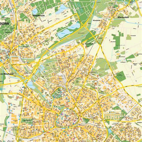 paderborn map map paderborn nrw germany maps and directions at map