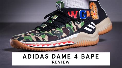 adidas dame 4 review adidas dame 4 x bape review german youtube