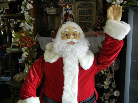 five foot santa claus animated size deluxe 5 foot santa claus sings dances prop ebay