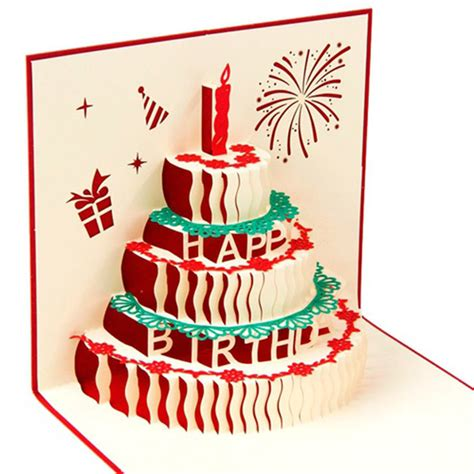 3 Candles Birthday Cake 3d Gift Card Haiku Kartu Ucapan Ulang Tahun 3d pop up card birthday cake candles birthday gifts greeting postcard ebay