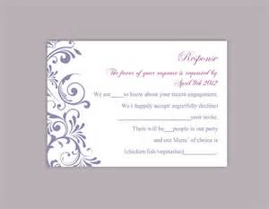 diy wedding rsvp template editable word file instant
