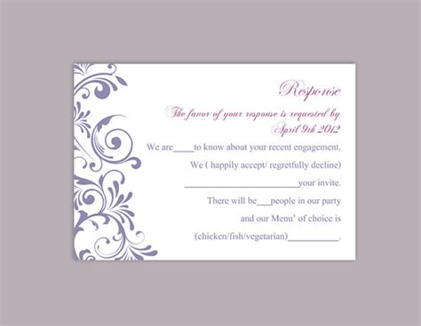 free rsvp template diy wedding rsvp template editable word file instant