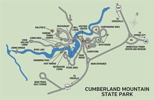Tn State Parks Map by Cumberland Mountain State Park Tennessee State Parks