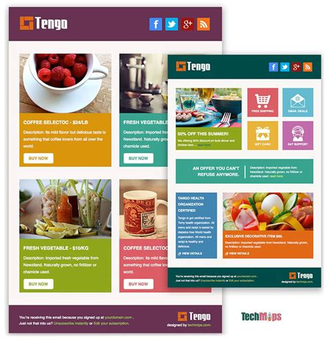 Tengo Is A Free Responsive Html Email Template Designed For Ecommerce And Other General Use 3 Buy Newsletter Templates
