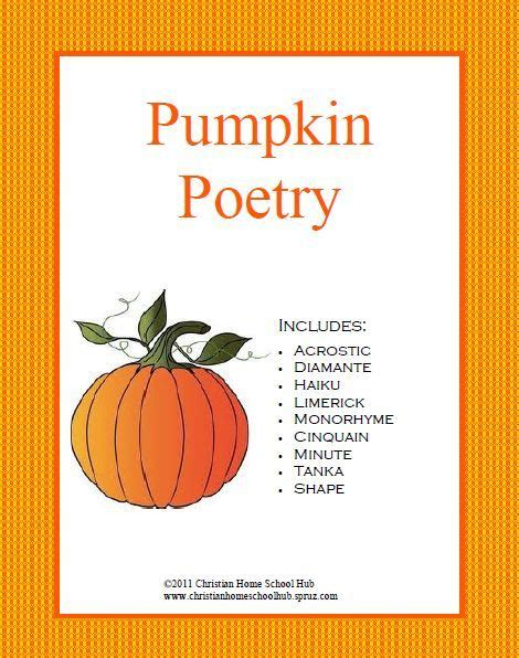 pumpkin poems pumpkin poetry unit pumpkin poetry is a colorful 28 page