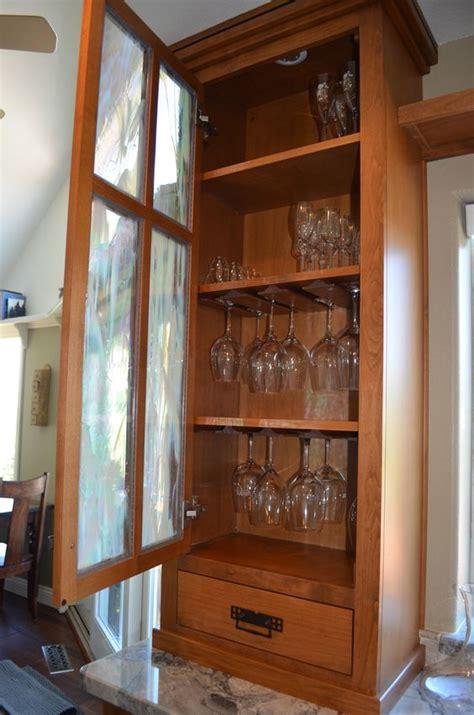 Craftsman kitchen, wine glass cabinet   Kitchen