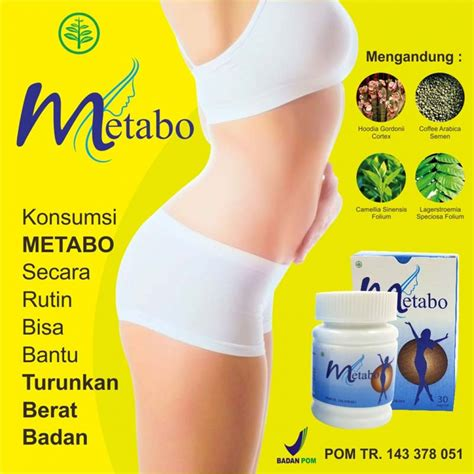 metabo slim herbal suplemen pelangsing herbal original
