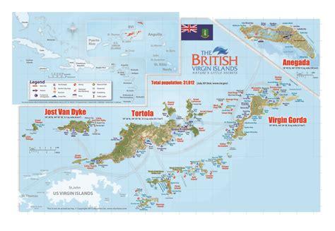 large travel map  british virgin islands british