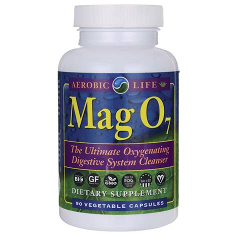 mag o supplement aerobic mag o7 90 veg caps swanson health products