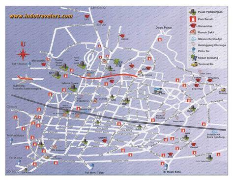 map of bandung city bandung map visit bandung indonesia